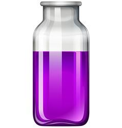 Purple liquid in glass bottle vector