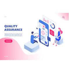 quality assurance concept assured result vector image
