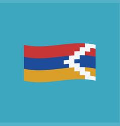Republic of artsakh flag icon in flat design vector