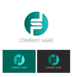 round letter s company logo vector image