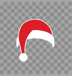 santa claus hat flat realistic claus hat vector image