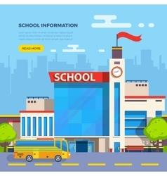 School Flat vector