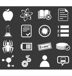 Science icon set 1 monochrome vector