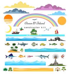 sea island constructor vector image