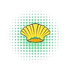 Sea shell icon comics style vector image