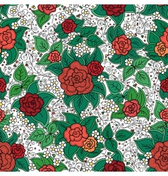 Seamless varicolored floral pattern vector