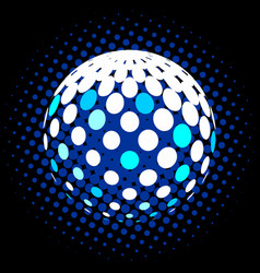 Set abstract halftone 3d spheres 28 vector