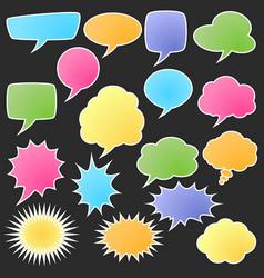 set comic bubble stickers vector image