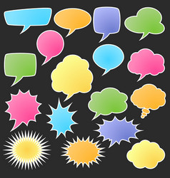 set of comic bubble stickers vector image