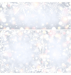 shining winter backgrounds with snowflakes vector image