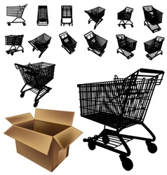 shopping cart silhouette vector image