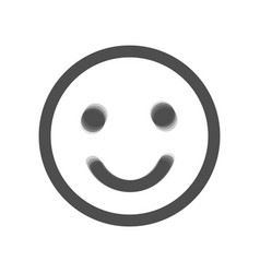 Smile icon gray icon shaked at white vector