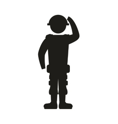 soldier armed forces military icon graphic vector image