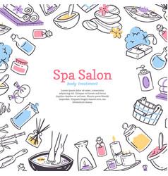 Spa treatment salon poster background design vector