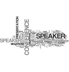 Speaker word cloud concept vector