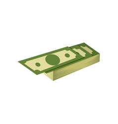 Stack of hundreds of dollars american banknotes vector