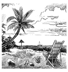 Summer Beach Sketch vector image