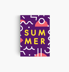 summer mood vertical poster template geometric vector image