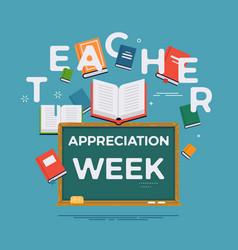 Teacher appreciation week background ideal vector