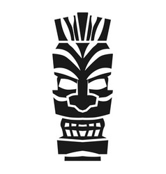 Tribal mystery idol icon simple style vector