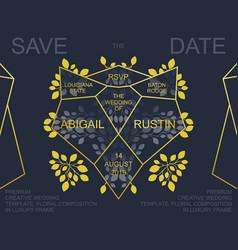 Wedding invite card design vector