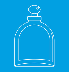 White glass bottle with perfume icon vector