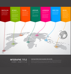 world map infographic template vector image