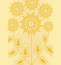yellow fantasy flower on light yellow background vector image