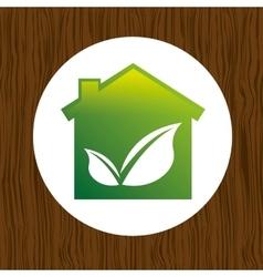 eco house icon design vector image