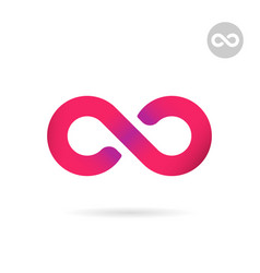 infinity flat sign uncertainty concept vector image vector image