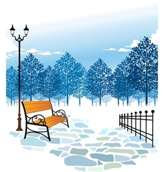 Winter Park Scene vector image vector image