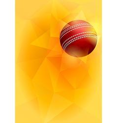 Cricket card vector image vector image