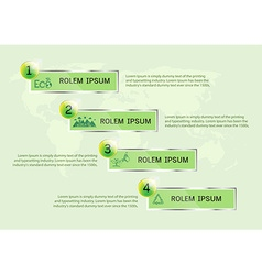 Ecology presentation vector image vector image