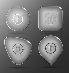 Wind turbine Glass buttons vector image
