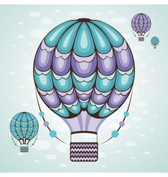air balloon vector image