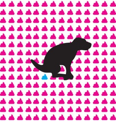 Dog silhouette vector image vector image