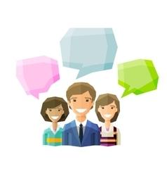 Information conversation opinion logo vector