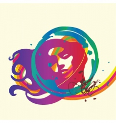 lady background vector image vector image