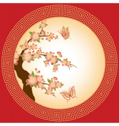 oriental cherry blossom vector image vector image
