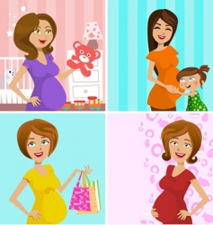 pregnant mother vector image vector image