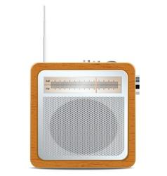 Retro radio vector image vector image