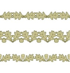 set of the seamless decorative borders vector image vector image