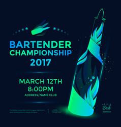 bartender championship poster vector image vector image