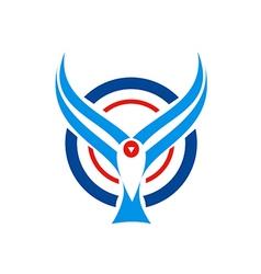 bird fly aviation logo vector image vector image