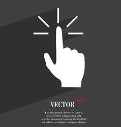 Click here hand icon symbol Flat modern web design vector image