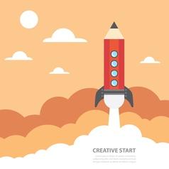 Creative start vector image