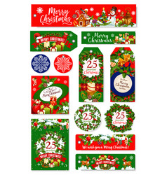 merry christmas holiday wish greeting cards vector image