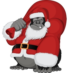 Monkey with gifts vector