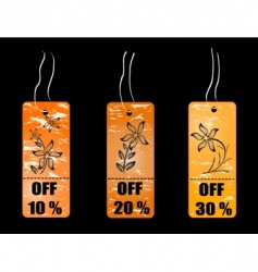 shopping concept tag vector image vector image
