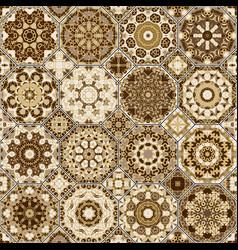 A set of brown tiles vector